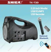 SHIER TK-T39 Good sound 6.25inch portable mini AAA battery speaker
