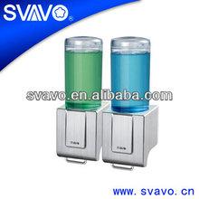Automatic Hands Press Chrome Liquid Soap Dispenser Bathroom Kitchen X686-2