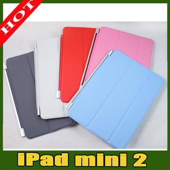 smart cover leather case for ipad mini 2