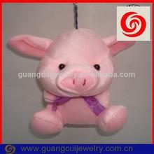 Fashion stuffed pig keychain hanging decoration doll