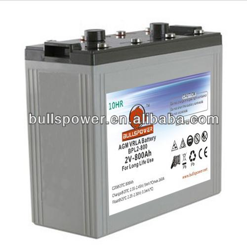 Long life solar battery 2v800ah,battery for off-grid solar system