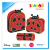 Adorable funky ladybird kids school bag set