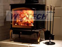 Wotech cast iron outdoor wood burning fireplace