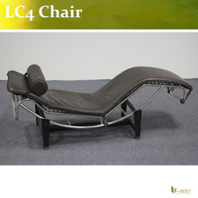 Black Leather Lounge Chaise Lounge