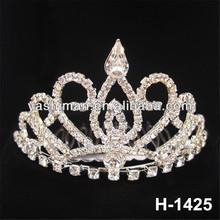 New Year Gifts 2014 Heart Shape Clear Rhinestones Comb Fashion Fairy Princess Tiara