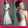 Sexy Deep V-neckline Sleeveless Floor Length New Fashion Applique Wedding Dress 2013