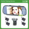 X&Y auto electrons 7inch bluetooth mp5 player visible parking 4 sensor car rear view camera system hidden car camera for korea