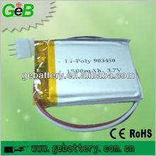 3.7V 1500mAh lithium polymer battery 1500mAh lion battery