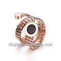 novo estilo fake 18k rosa de ouro anel anel de cobra