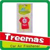 Hanging paper custom car paper air freshener
