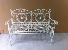 Outdoor garden metal bench