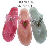 2013 best fashion women nude beach slippers