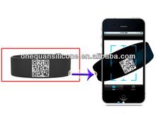 Cup World bulk QR code silicone bracelets