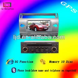 Digital TV citroen c4 car dvd player with gps navigation and bluetooth