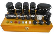 Black hot stone massage , 60pcs/set from factory