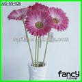 pu artificial toque real margaridas gerbera rosa flores