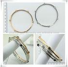 2013 latest design fake gold rhinestone girl lock bangles bracelets with best price