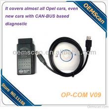 op-com cable OP-COM V09 OBD2 Diagnostic cable for Opel cars