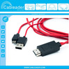 MHL Adapter Cable for Samsung Galaxy S4 i9500 Note 2 N7100 Red
