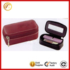 100% leather lipstick holder lipstick case with mirror