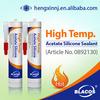 High temp. Acetic 100% rtv silicone sealant