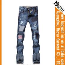 2013 Latest Denim Innovative Design Branded Jeans Pants Cheap Price Slim Fit Jeans Pants Models for Men (HYM944)