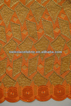 2013 High Quality swiss voile lace fabric french lace fabric swiss lace fabric 2009 orange
