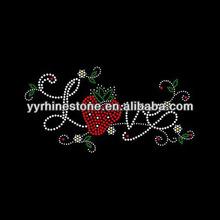 Love with Strawberry rhinestone transfers