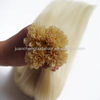 Most Fashionable Blonde U Tip Hair Weft Brazilian Human Hair