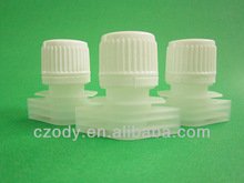 non-toxic plastic production spout with screw cap for pouch