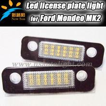 2013 Hot selling LED License Plate lights for Fiesta for Fusion, for Mondeo MK2 car license light led, error free