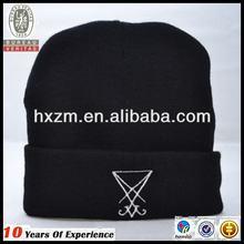 fashion men`s knit ear flat embroidery ski hat
