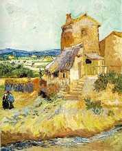 2014 Rural architecture landscape oil painting