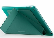 delicate leather stand case smart cover with tpu case for ipad air