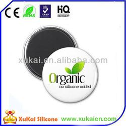 Round design plastic silicone/PVC fridge magnet