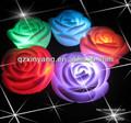 ocidental do casamento flores artificiais rosa vela flutuante forma
