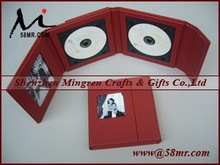 Supreme Deluxe Classic Wedding Red Leather CD DVD Boxes