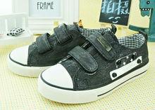 Children 8 OZ canvas buckle rubber sole canvas shoes for boys