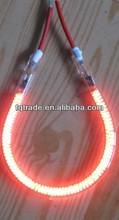 C shape carbon fiber transparent quartz heating lamp