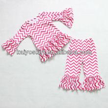 2014 New design girls ruffle pants set