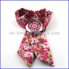 Fashion japan quartz movt girls ribbon band watch 2014 china