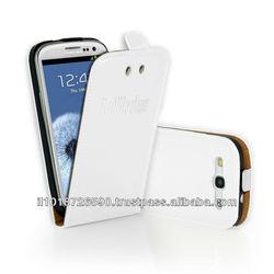 Radiation-free Luxury PU leather Flip case for SAMSUNG GALAXY SII, SIII, SIIII w/Magnet clip