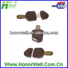 Customized Logo Fine Cute Ice Cream PVC USB Pen Drive