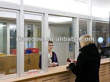 aluminum sliding glass reception window