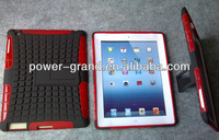 Kickstand Hard PC protector case cover for Ipad4 Ipad3 Ipad2, 50pcs to start