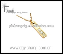stainless steel rectangle pendant setting