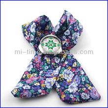 Fashion japan quartz movt ladies ribbon watch band