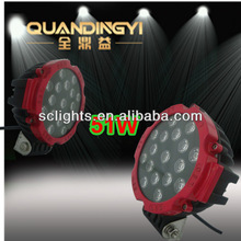 LED SUPPLIER brightness 51W LED WORK LIGHT 4WD AUTO LAMP/RED