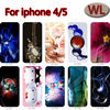 Colored drawing trendy plastic pc tpu case case for iphone 4/5 case for mobile phone