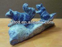 Hot seller semi precious stone squirrel carving gemstone
